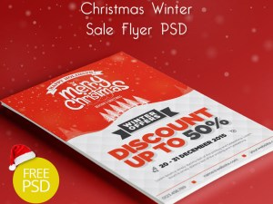 Free Christmas Sale Flyer Template