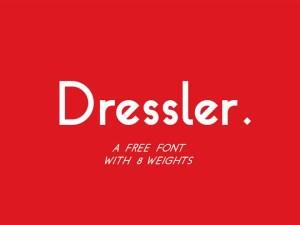 Dressler - Free Geometric Font