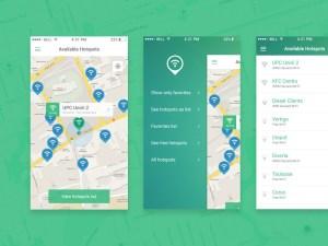 Hotspots App UI Design