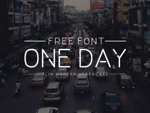 One Day : Free Slim Modern Uppercase Font