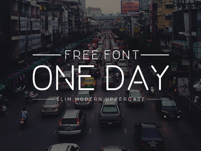 One Day : Free Slim Modern Font