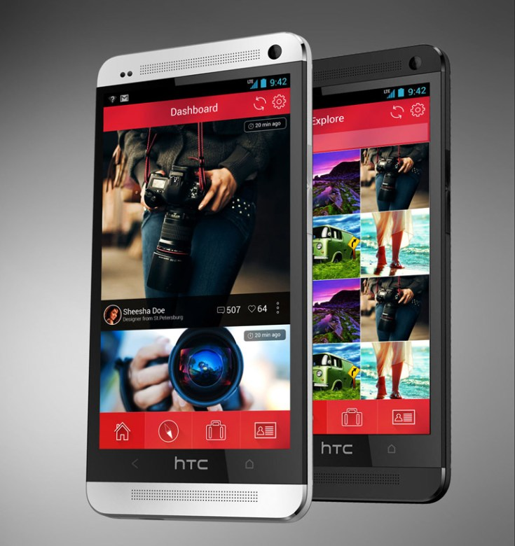Android Photo Gallery App UI PSD