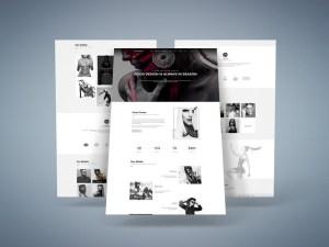 Pouseidon : Model Agency PSD Template
