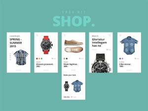Shop : Free Mobile Ecommerce UI Kit