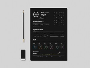Abstract Free Resume Template