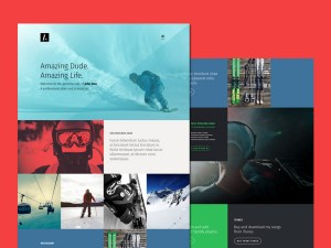 Amazing Dude : One Page Personal PSD Template
