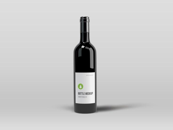 free black bottle mockup