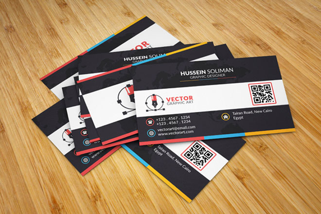 Free Business Card Template for Graphic Designer