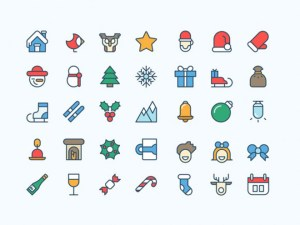 Free Coloured Christmas icons