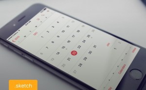 iOS Calendar UI Design (Sketch)