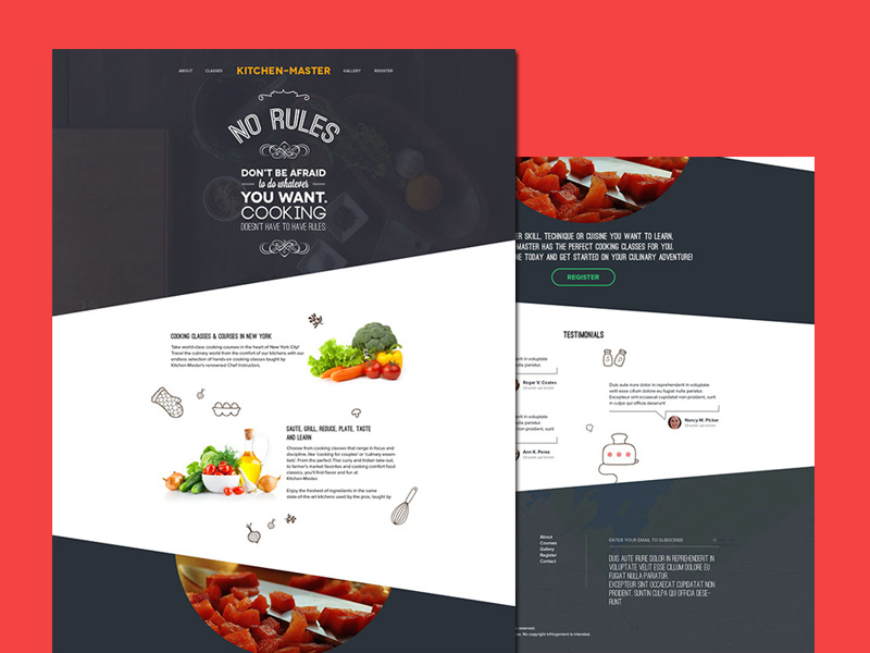 Kitchen Master – Free Cooking PSD Template
