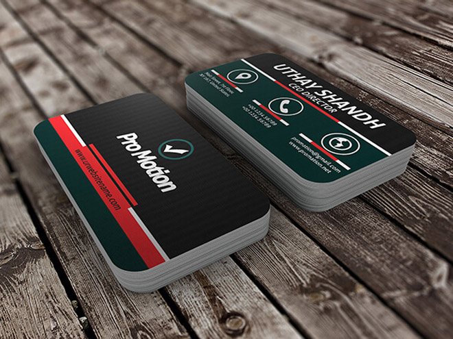 Free Modern Business Card PSD Template