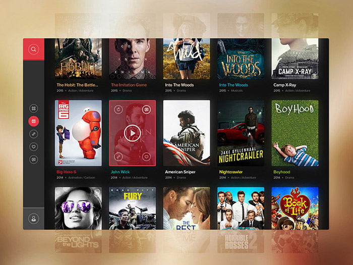Free Movie Widget PSD