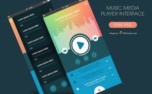 mp3 player ui psd