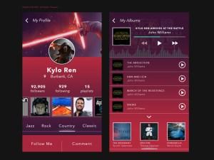 MP3 Playlist UI Kit PSD