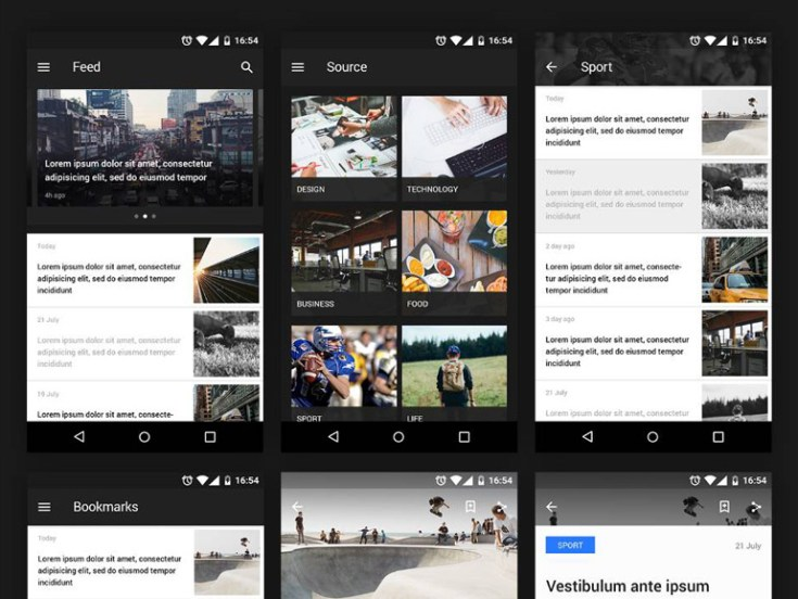 News Reader : Free Mobile UI kit