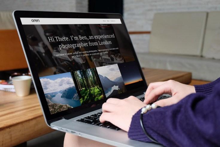 Oren : Free Simple Photography Wordpress Theme