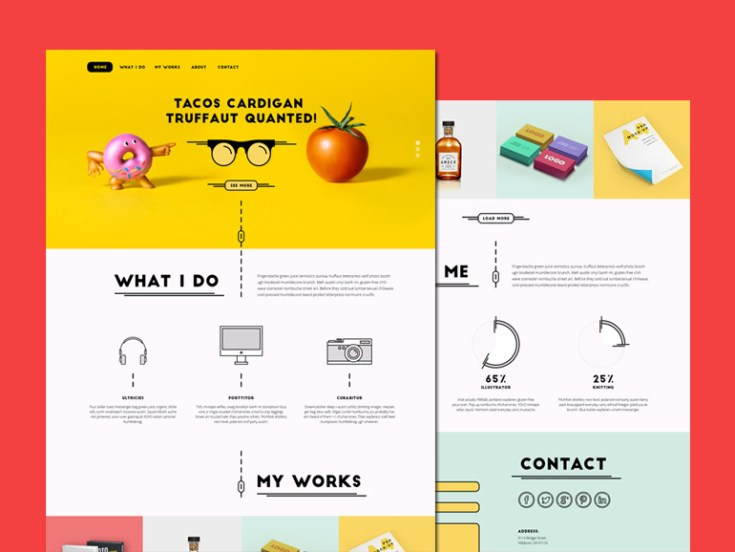 Pink Donut : Free PSD Template for Creative Agency