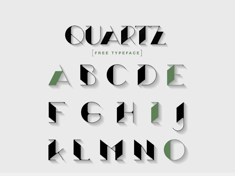 Quartz : Free Art Deco Font