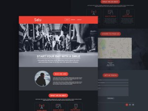 Satu : Free Startup PSD Web Template