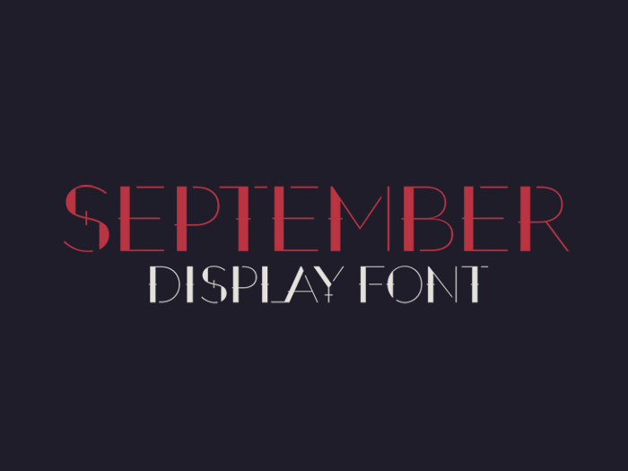 September Free Display Font