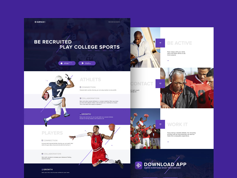 Sport PSD Landing Page Template