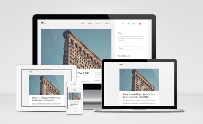 Vito : Personal Blog WordPress Theme