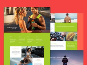 Free Fitness PSD Web template