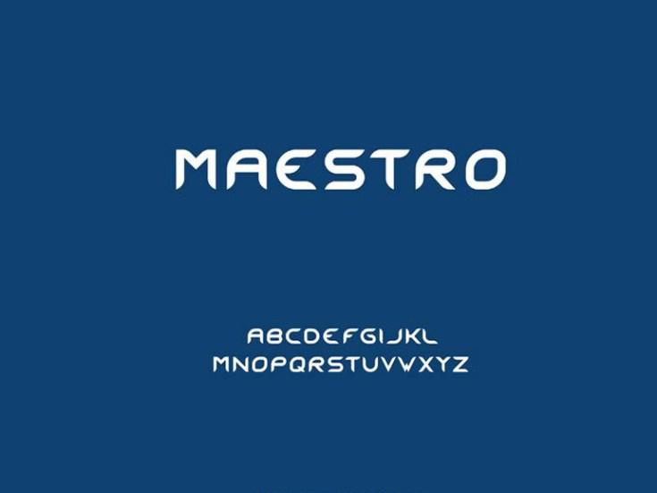 Maestro Free Typeface