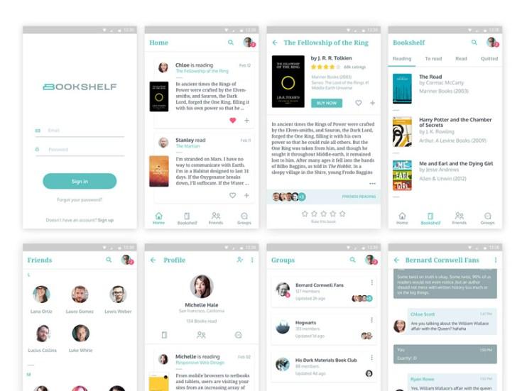 Bookshelf UI Kit