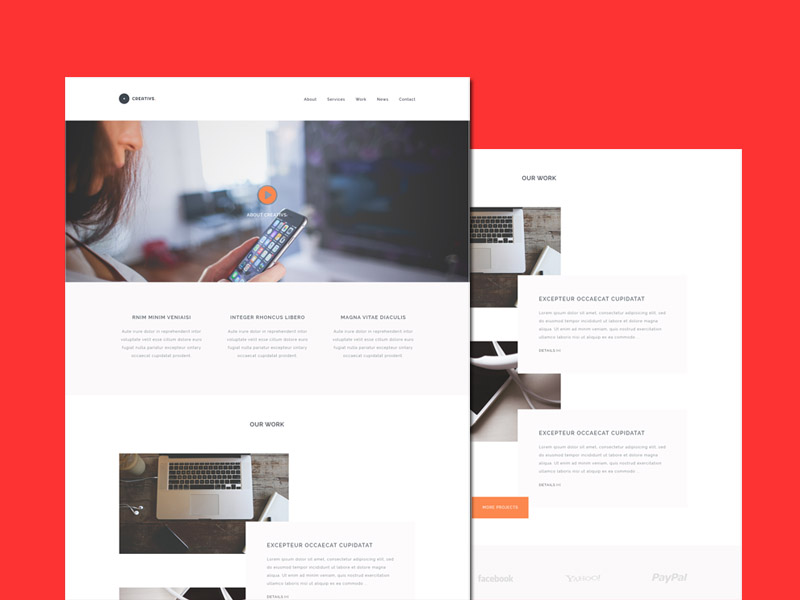 Creativs – Agency HTML5 Website Template