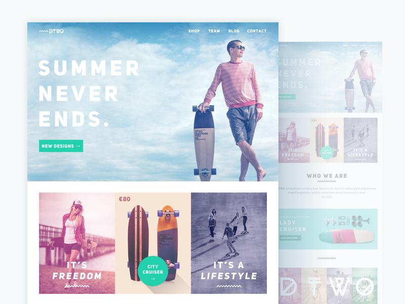 DTWO : Summer PSD Website Template