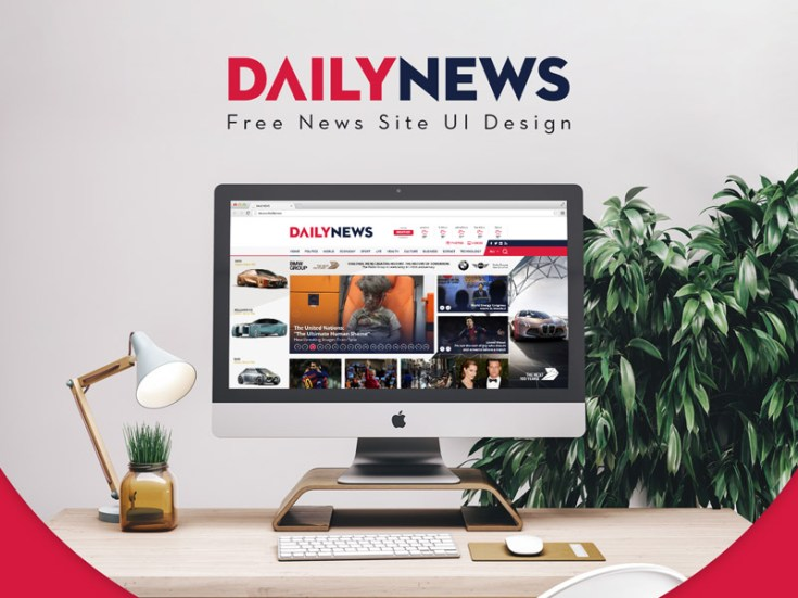 Dailynews : Free News PSD Template