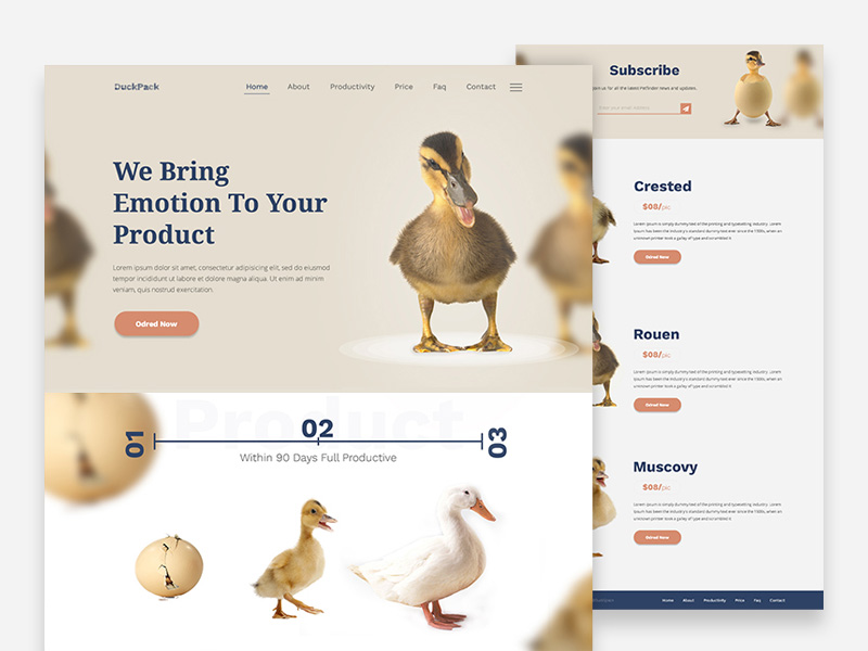 DuckPack : Free Business Landing Page Template