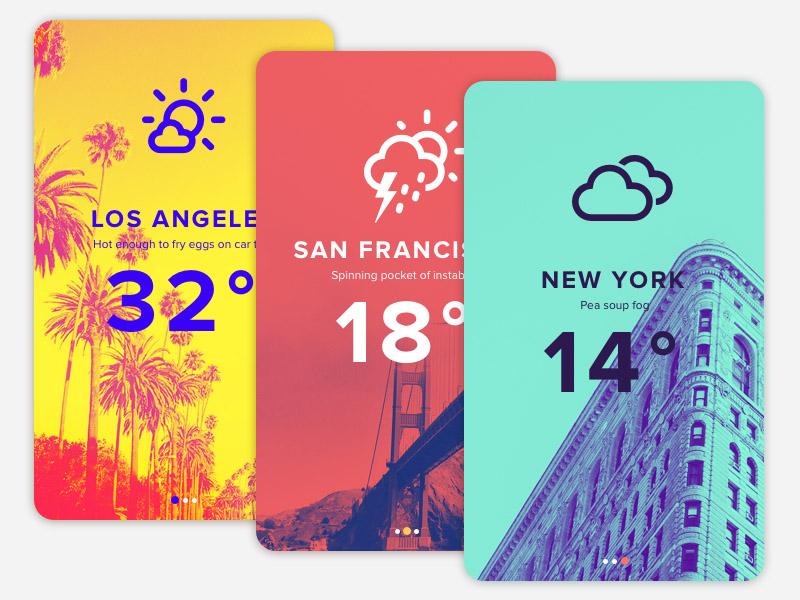 Duotone Weather App UI Design