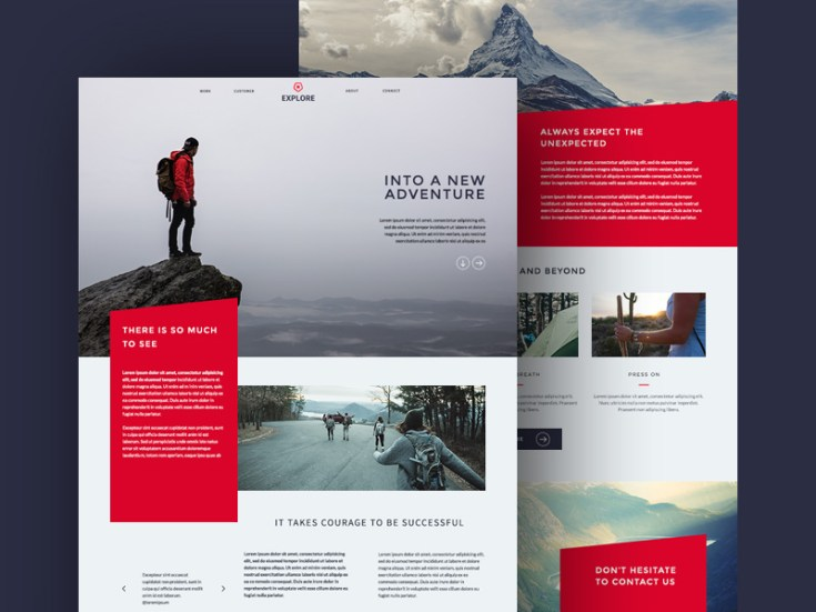 Explore : Travel PSD Website Template