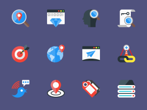 Free Flat SEO Icon Set