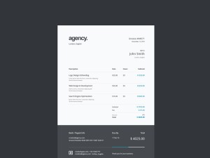 Free A4 Invoice Template