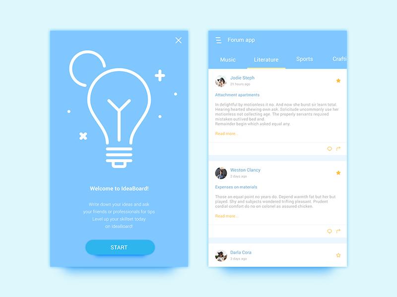 Free Forum App UI Design