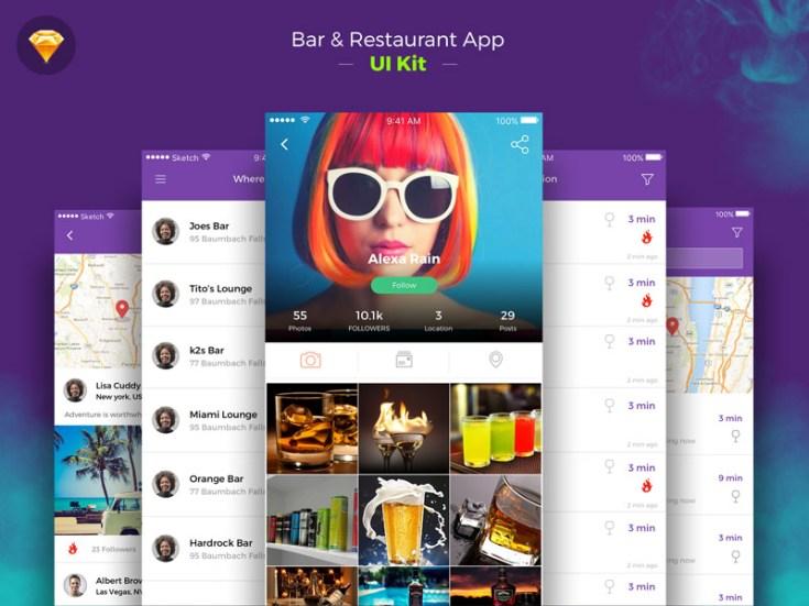 Free Restaurant App UI Kit