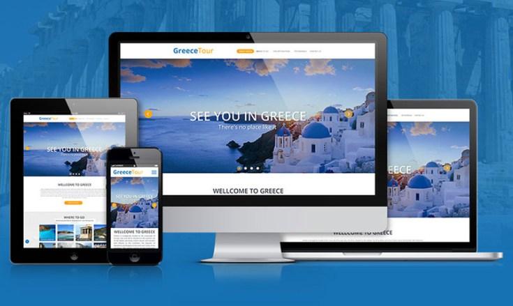 GreeceTour : Free Travel PSD Template