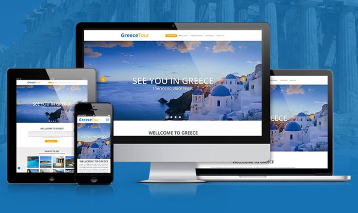 GreeceTour : Free Travel PSD Template