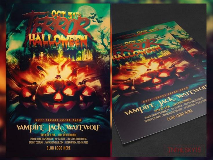 Free Halloween Flyer Template Psd Free Download Freebiesjedi