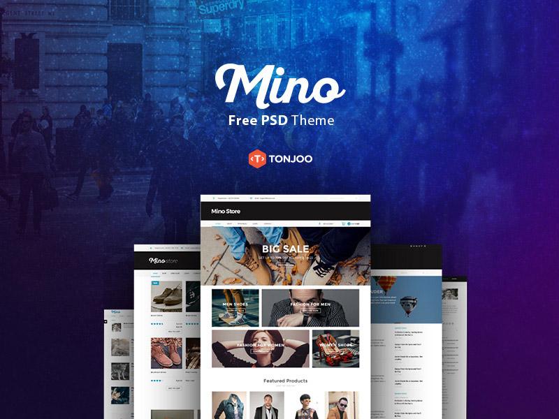 Mino : Free PSD Blog Template