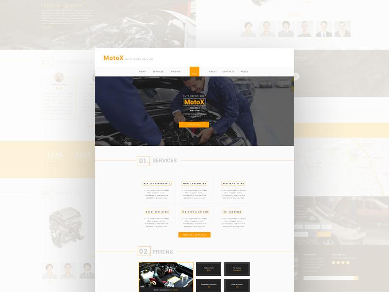 MotoX : PSD Landing Page Template