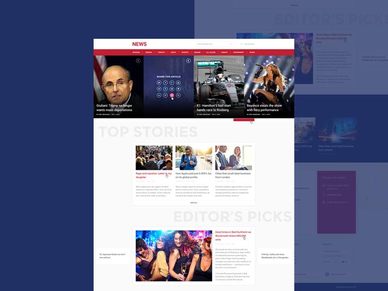 Free News Portal PSD Template