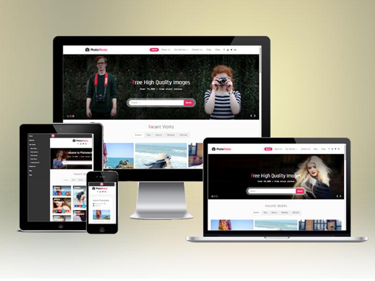 Photomania : Responsive WordPress Photography Theme