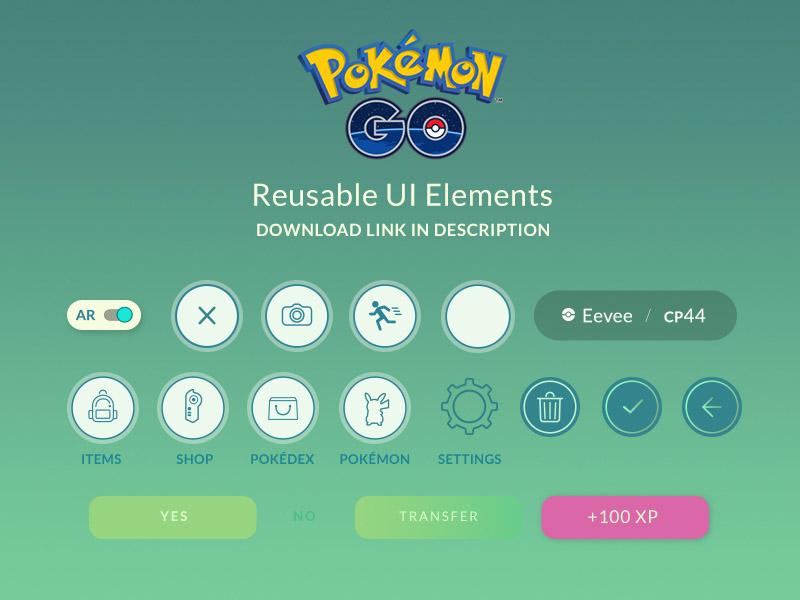Pokemon Go UI Kit