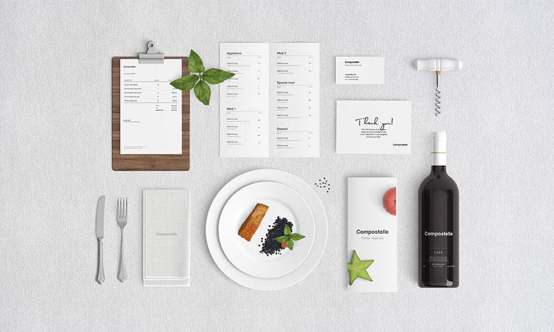Free Restaurant Stationery Mockup
