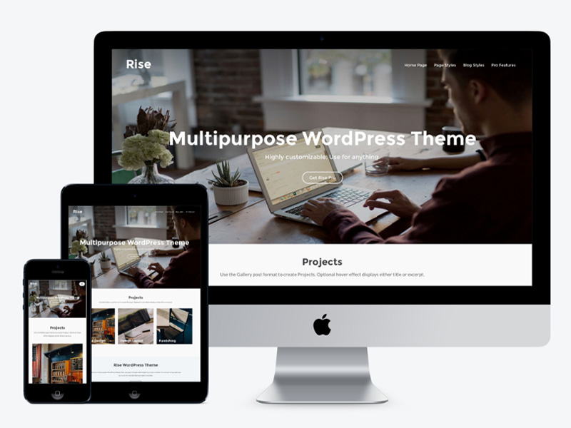 Rise : Minimal Creative WordPress Theme
